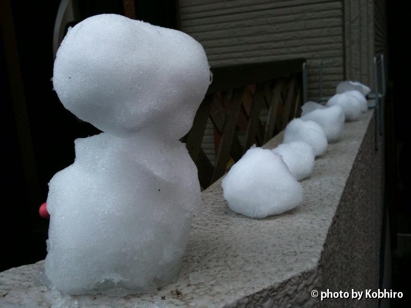 雪だるま、三態
